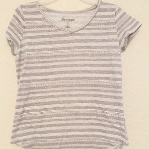 OLD NAVY Gray Striped Top